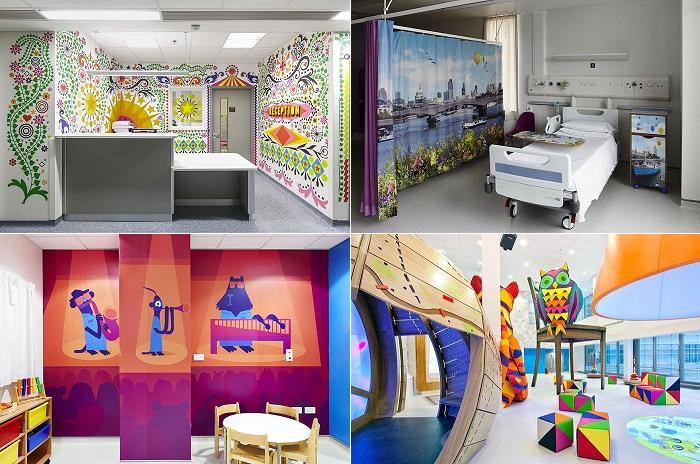 Интерьер детской Лондонской больницы.