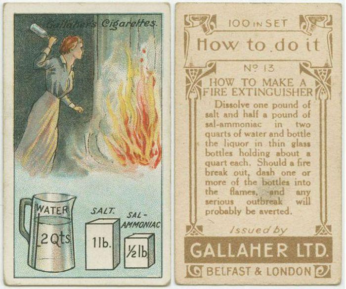 500 грамм соли, 250 грамм нашатырного спирта размешать в 2 литрах воды перемешать и залить эту смесь в стеклянные бутылки. Если вспыхнет огонь, бросить в очаг возгорания одну или несколько бутылок, и пламя потухнет.