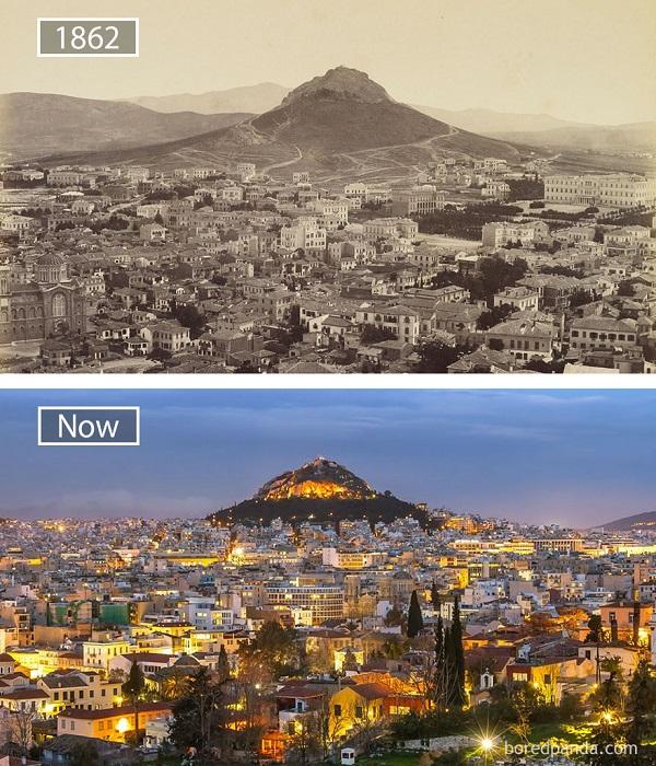 Известные города мира тогда и сейчас.