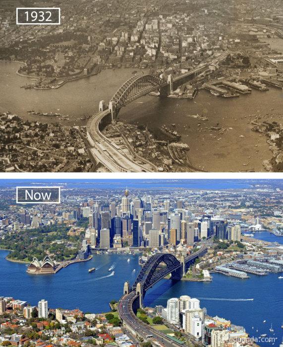 1932 год и в настоящее время.