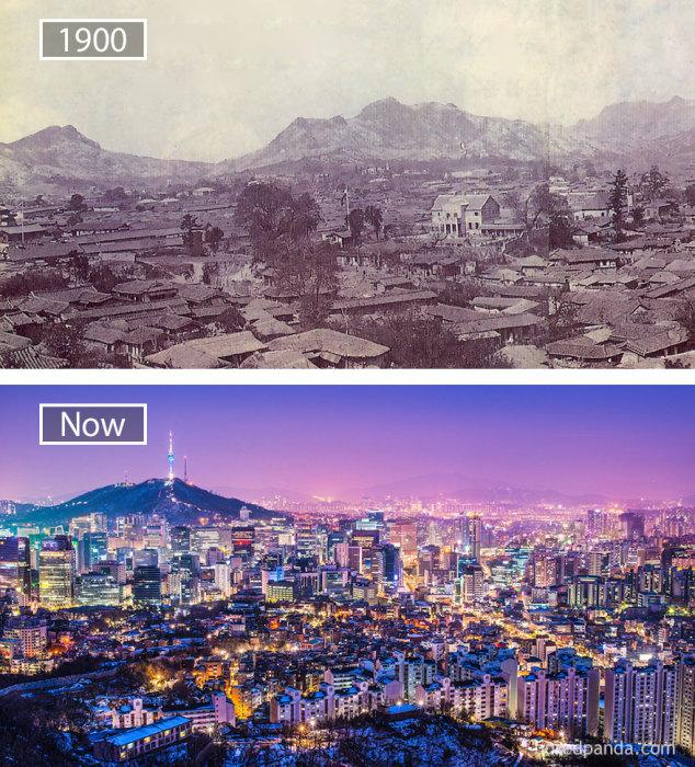 1900 год и теперь.