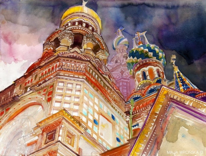 Красота зданий Санкт-Петербурга.
