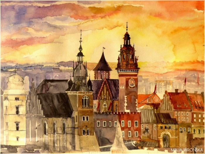 Строгий Краков от молодой польской художницы.