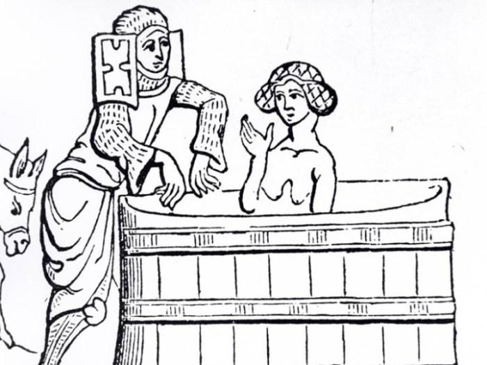 Одиночный душ был для людей средневековья чем-то из области фантастики, особенно для тех, кто жил в большом коллективе.