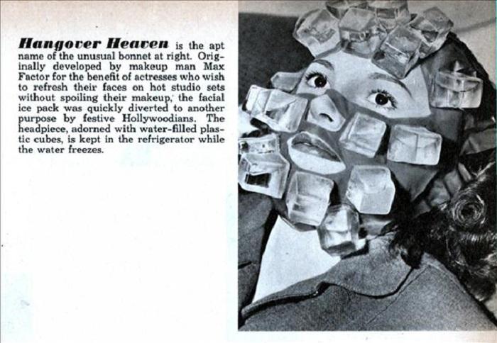 Ледяная маска от Макс Фактор, которая замораживала макияж, а потом использовалась как средство от похмелья.