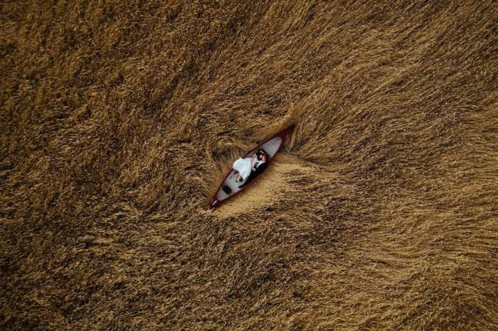 Автор снимка и обладатель 5-го места в категории «С воздуха» - польский фотограф Криштоф Кравчик (Krzysztof Krawczyk).