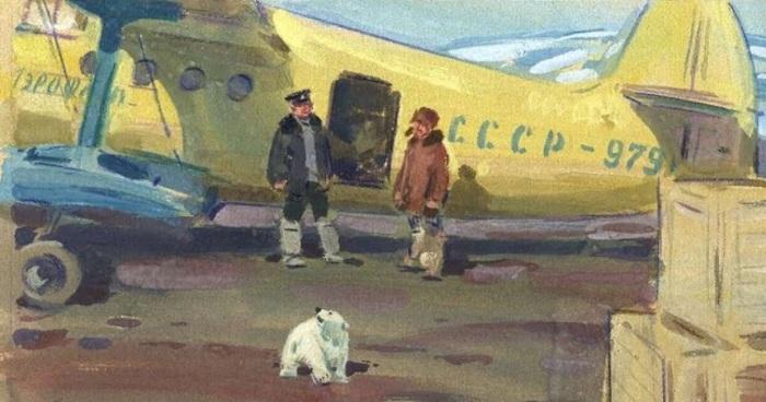Игнатьев Борис (Россия, 1918-2001) «На полярной станции»
