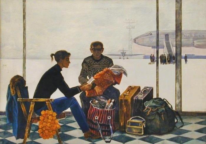 Бучкин Дмитрий Петрович (Россия, 1927), «Строители нового города» 1972