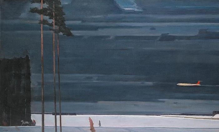 Нисский Григорий Григорьевич (Россия, 1903-1987) «Над снегом» 1960