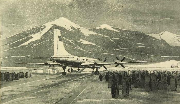 Колосков Владимир Георгиевич (Россия, 1924), «Аэрофлот в Антарктиде. Пингвины»