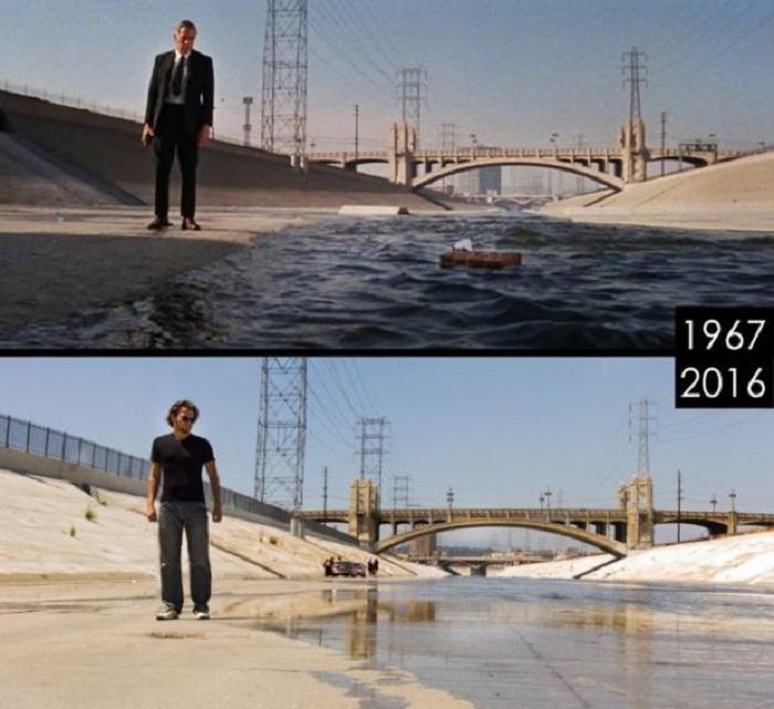 Место съемок фильма с разницей в 30 лет.