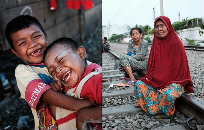 Правдивые фотографии из трущоб Джакарты.