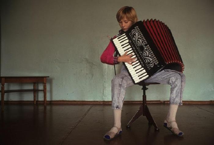 Занятия по классу аккордеона в музыкальной школе.