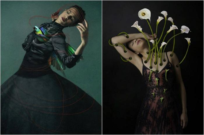 Изысканные сюрреалистические автопортреты.