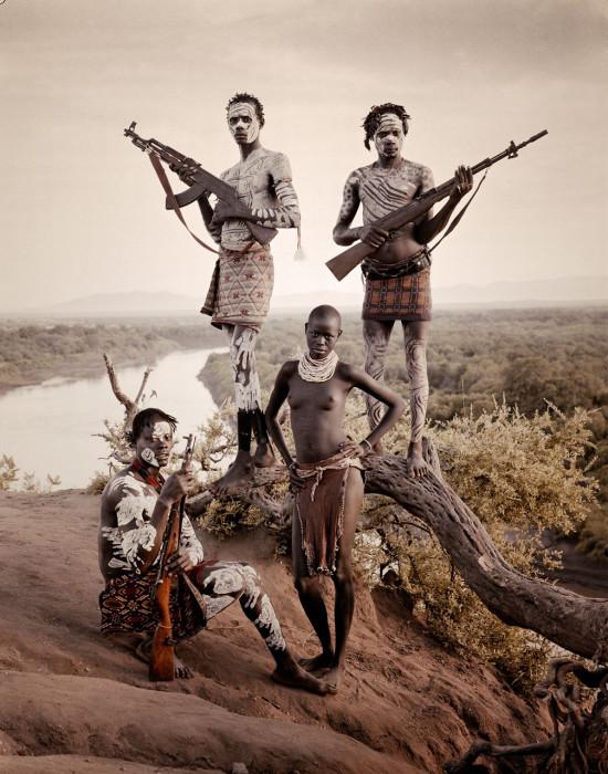 Племя, живущее в долине реки Омо, в Эфиопии.