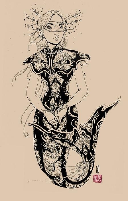 Автор картины – американская художница Лорен Ю.С. (Lauren YS).