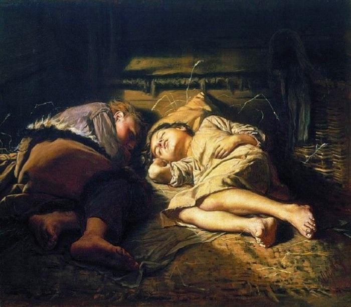 Художник Перов сумел найти прекрасные черты в обыденном, и в лучшем свете показал их на своей картине.