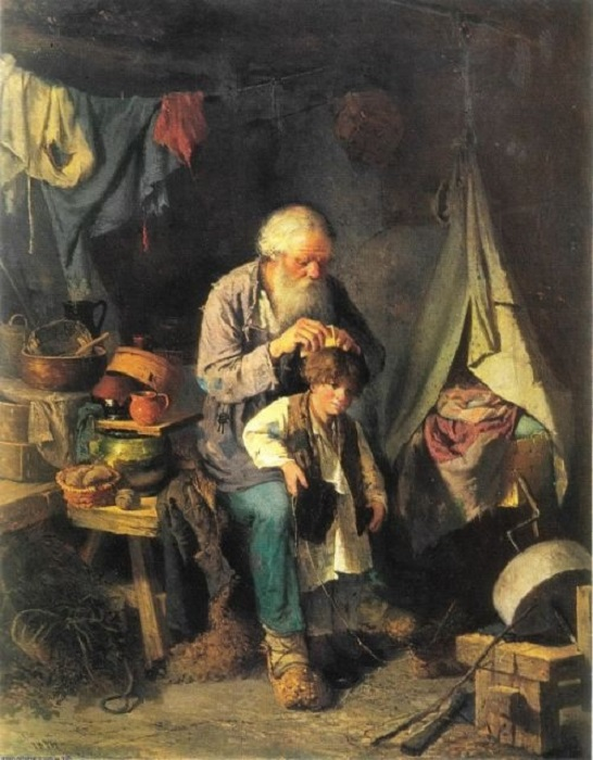 Тема семьи так же раскрывается в работах знаменитого русского художника.