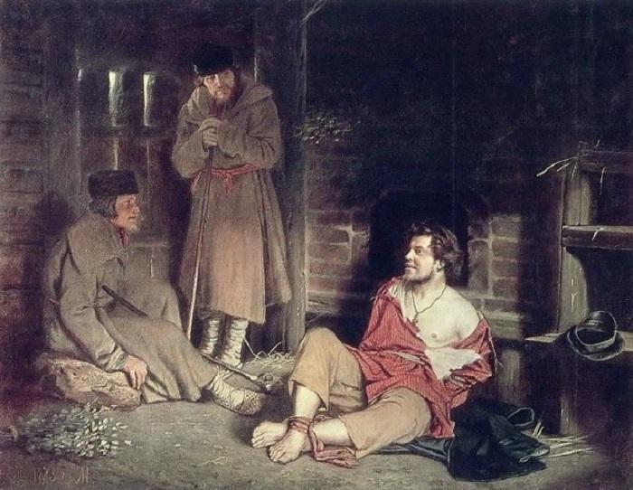 Картина художника раскрывает силу простого человека, всю мощь и величие русского духа.
