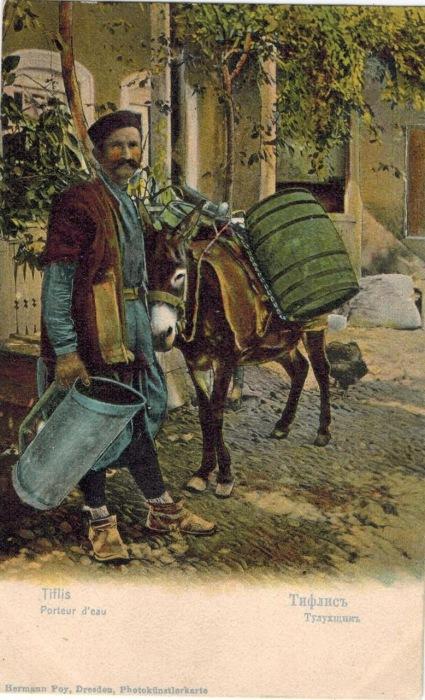 Возчик, занимающийся доставкой питьевой воды.