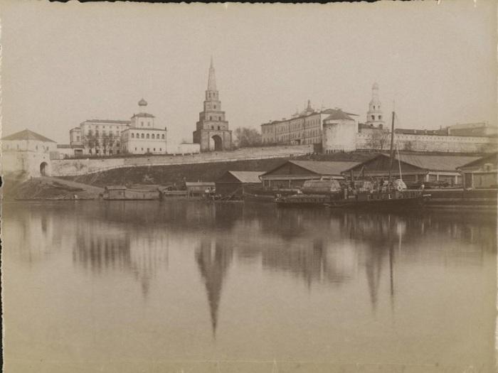 Казанский речной порт XIX века.