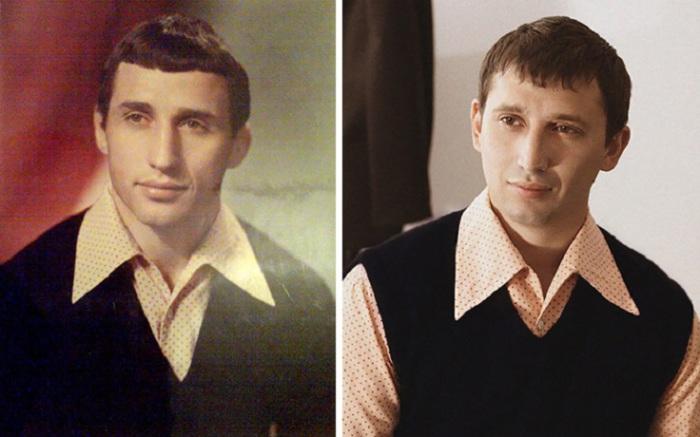 Удивительное внешнее сходство между отцом и сыном.