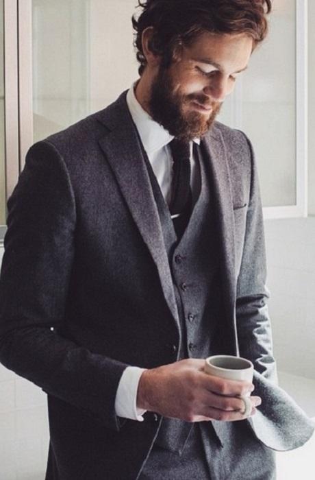 Кофе и мужчина - один на один.
