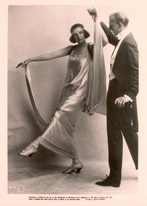 Вернон и Ирен Касл - танцоры, выступавшие в стиле аргентинского танго.