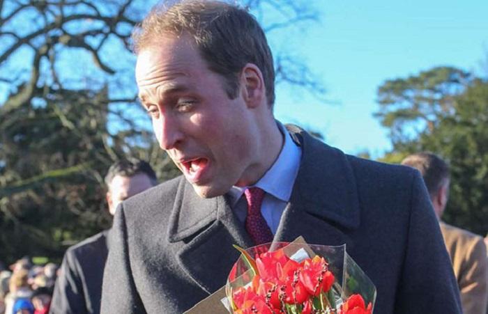 Принц Уильям во время рождественской службы в церкви Святой Марии Магдалины в поместье Сандрингем (Великобритания).