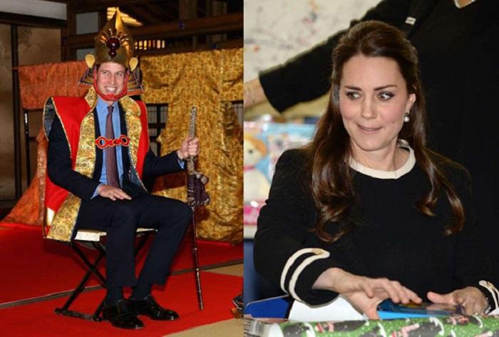 Принц Уильям примеряет традиционную одежду японского императора, а герцогиня Кембриджская делает большие глаза, когда помогает оборачивать рождественские подарки.