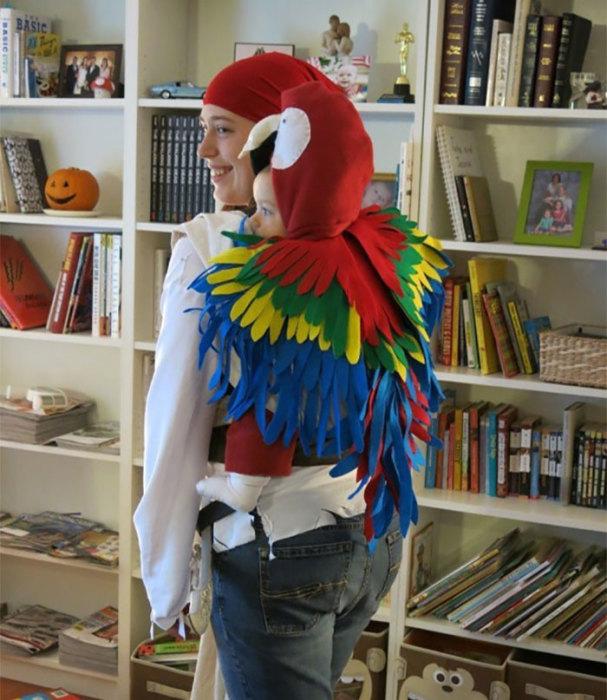 Удивительный и яркий костюм для ребенка сделан из разноцветных слоев фетра – смотрится фантастически!
