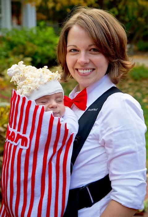 Веселый костюм для первого осеннего праздника ребенка создан с применением… настоящего попкорна!