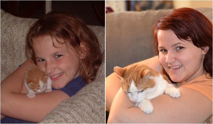 Любовь к одному животному на протяжении 11 лет.