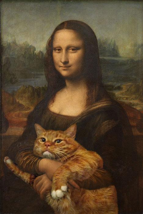 Кот Заратустра стал известен тем, что побывал в роли главного персонажа многих картин известных художников прошлого.