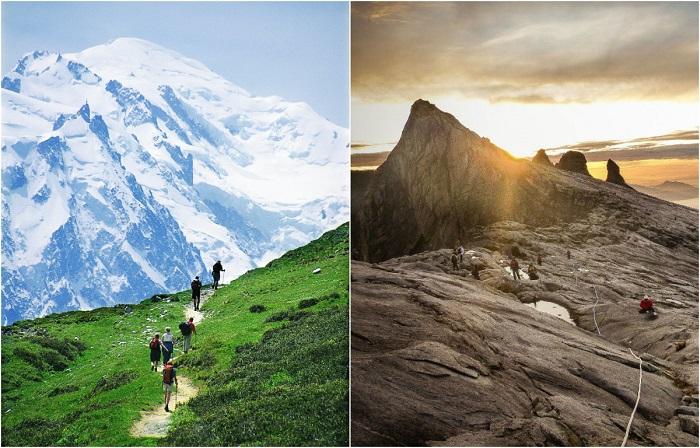 Самые популярные горные вершины среди туристов.