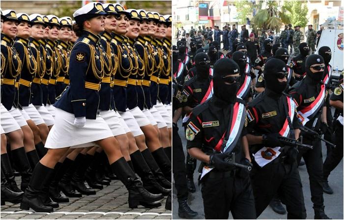 Фотографии военных парадов из разных стран мира.