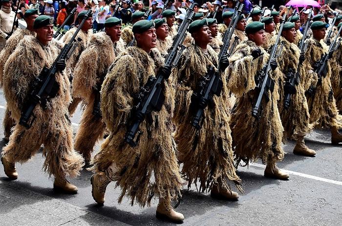 Военный парад 16 сентября, посвященный Дню независимости страны.