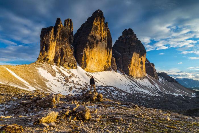 Самая известная горная гряда представляет собой три пика.