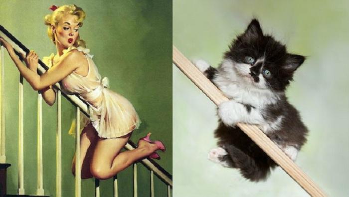 Картинки с изображением девушек рисовались в разных ситуациях из жизни.