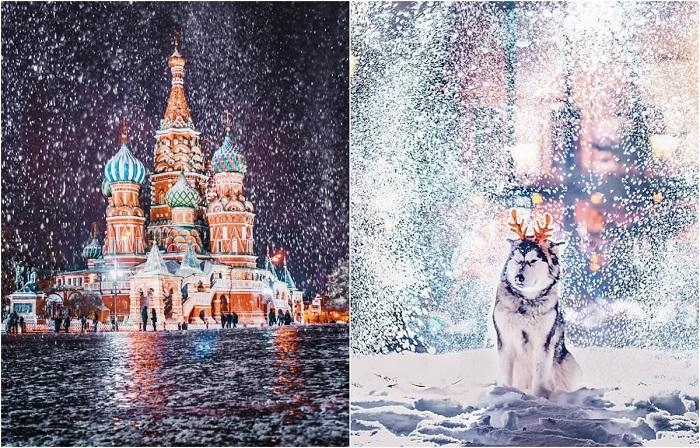 Потрясающие атмосферные зимние снимки Москвы в преддверии Нового Года.