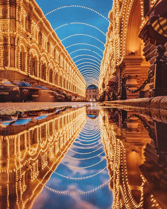 Вся красота предновогодней российской столицы.