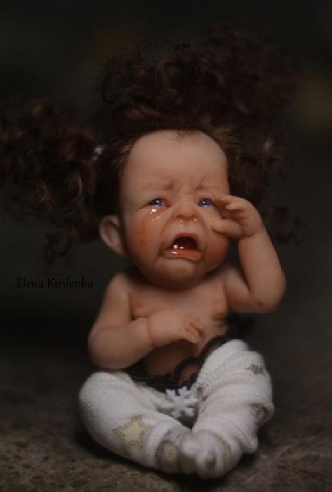 Переизбыток слёз у крошки-малыша.