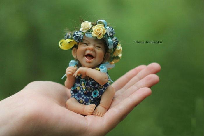 Симпатичные авторские куклы из запекаемого пластика.