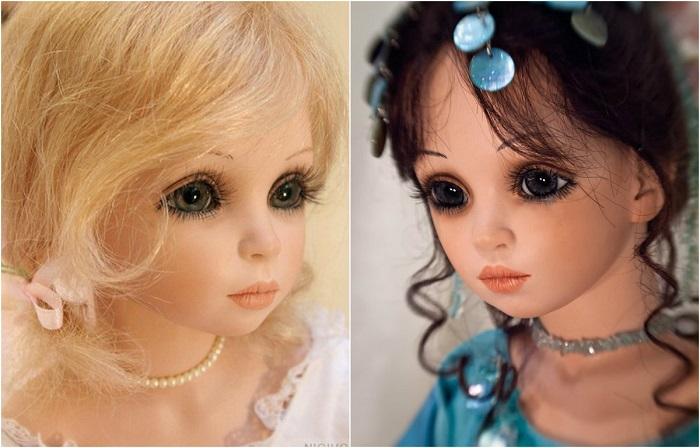 Фарфоровые куклы мастерицы Сью Линг Ванг.