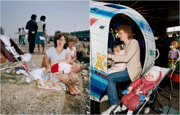 Снимки английского курорта 80-х годов от уличного фотографа Мартина Парра.