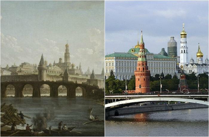 Пейзажи художников и фотографии современных городов.