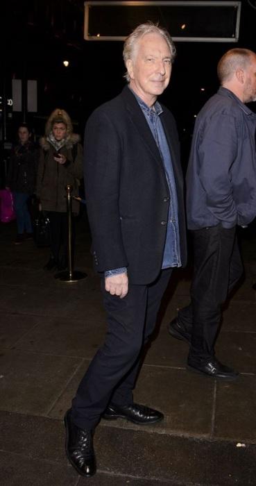 Британский актер неплохо выглядит на своей последней фотографии, сделанной до того, как рак поджелудочной железы, диагностированный у Рикмана, одержал победу.