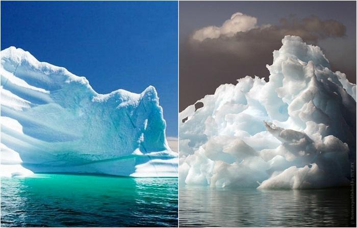 Тающие ледяные пейзажи.