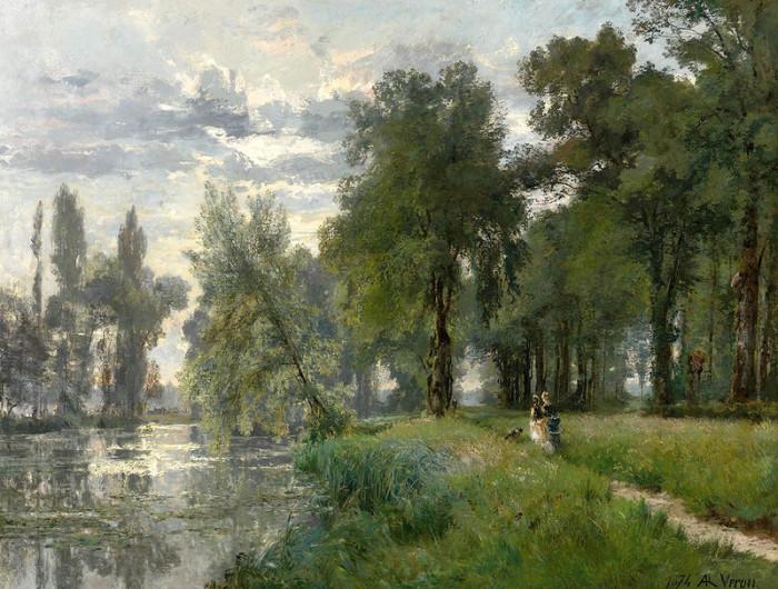 Автор картины – французский художник Александр Рене Верон (Alexandre Rene Veron).