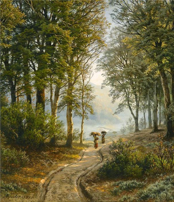 Автор картины – немецкий пейзажист Фридрих Август Кесслер (Friedrich August Kessler).